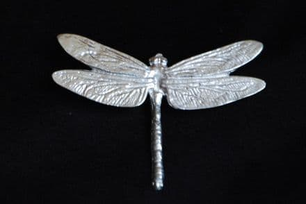 """Extra Large Ladycrow Pewter Scarf Ring """"Dragonfly"""""""