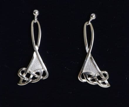 Frosted Celtic Knotwork Earrings C72