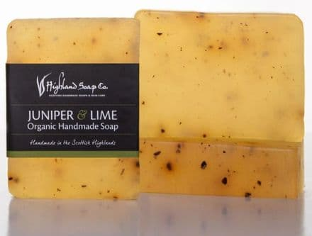 Highland Soap Co. Organic Handmade Soap - Juniper & Lime 140g