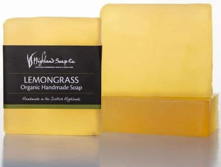Highland Soap Co. Organic Handmade Soap - Lemongrass 140g