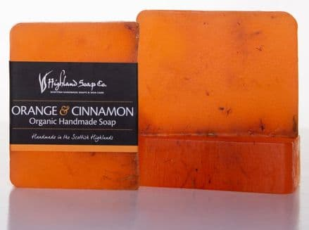 Highland Soap Co. Organic Handmade Soap - Orange & Cinnamon 140g