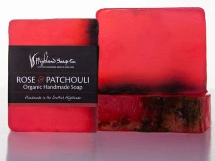 Highland Soap Co. Organic Handmade Soap - Rose & Patchouli 140g