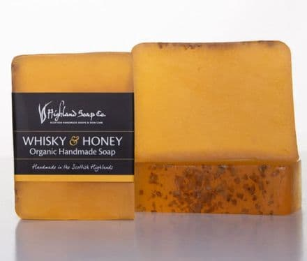 Highland Soap Co. Organic Handmade Soap - Whisky & Honey 140g