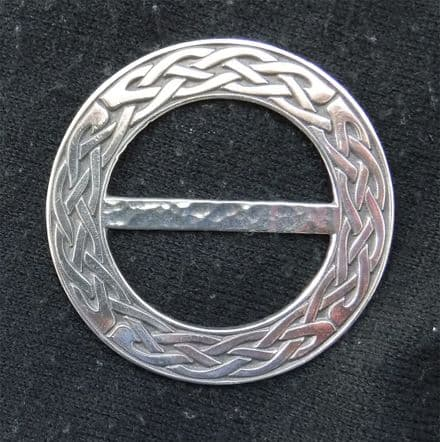 """Ladycrow Large Pewter Scarf Ring """"Celtic Knot"""""""