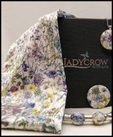 Ladycrow Liberty Silk Satin Scarf with Magnetic Clasp - Wild Flowers