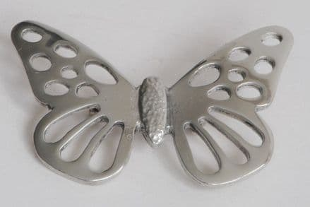 Ladycrow Pewter Brooch Butterfly