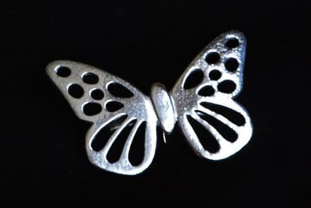 """Ladycrow Pewter Scarf Ring """"Butterfly"""""""