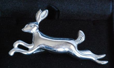 """Ladycrow Pewter Scarf Ring """"Hare"""""""