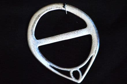 """Ladycrow Pewter Scarf Ring """"Point"""""""