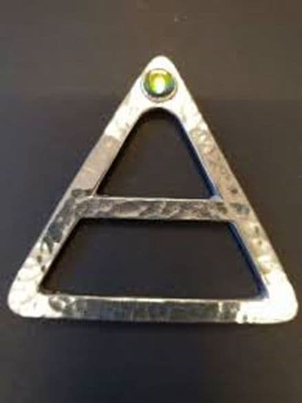 """Ladycrow Pewter Scarf Ring  """"Triangle"""""""