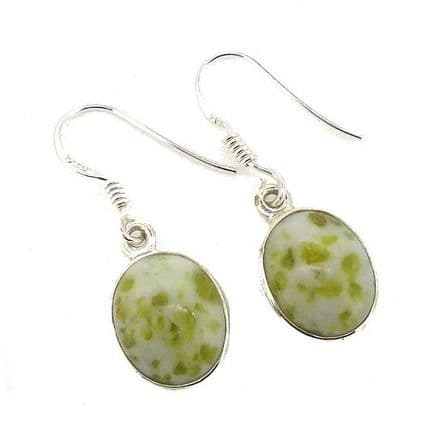 Scottish Green Marble Small Celtic Trinity Earrings IE11