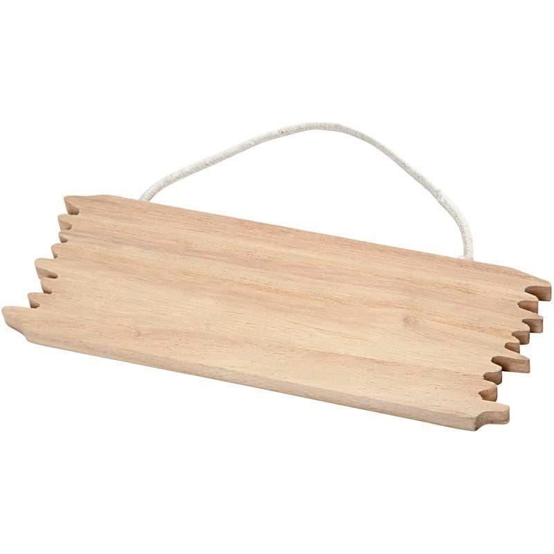 Broken plank door sign