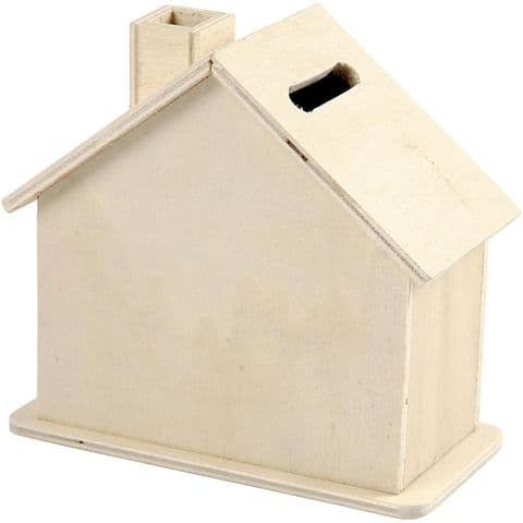 House shaped money box