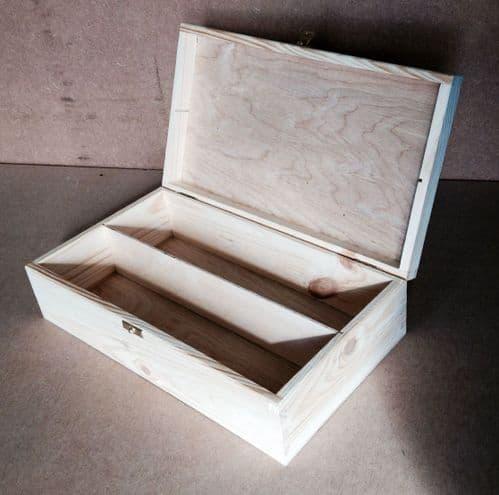 Pine Wood 2 Bottle Wine Box