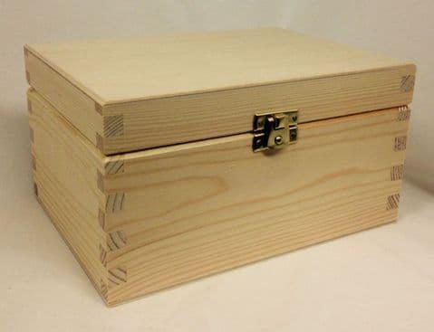Pine Wood Storage Box - Large