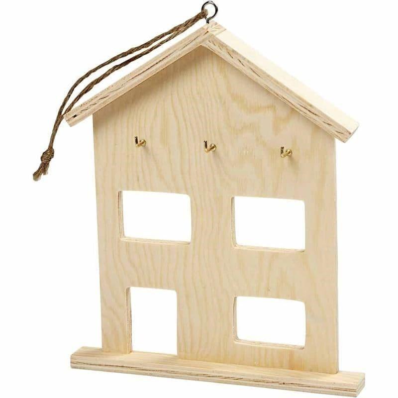 Simple ply wood hanging key hook WC532 storage art craft